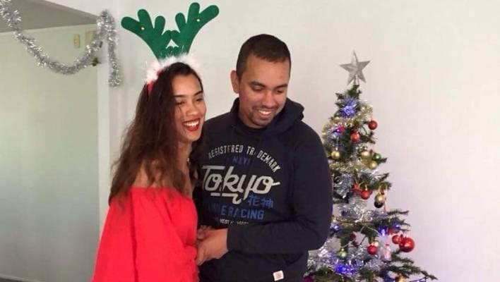 Gevnesh Prasad and his younger sister Priya Prasad celebrating Christmas.
