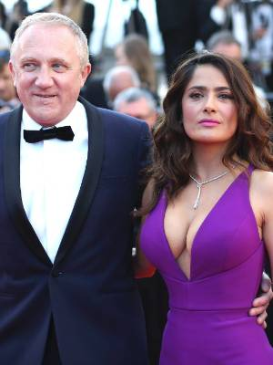 """Francois-Henri Pinault's wife, actress Salma Hayek, praised the family's """"personal and heart felt participation in the ..."""
