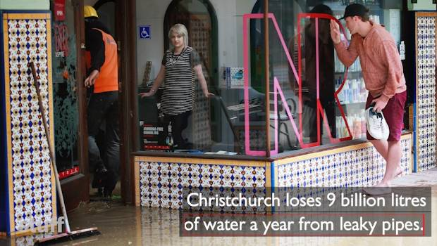 Leaky Pipes Lose 70 Swimming Pools Worth Of Christchurch Water A Week Stuff Co Nz