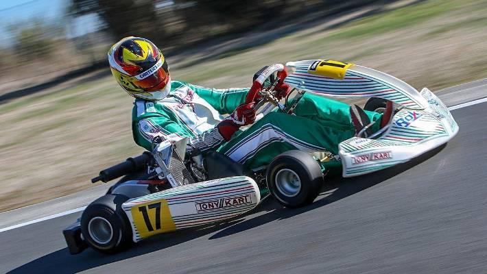Supercars champion Scott McLaughlin qualifies second at KartSport NZ Nationals