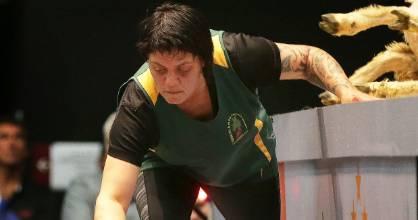 Tina Elers of Mataura, representing Cook Islands at the 2017 World championship held in Invercargill.