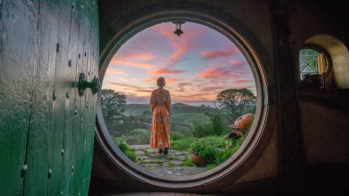 Middle-earth: The Hobbiton movie set.