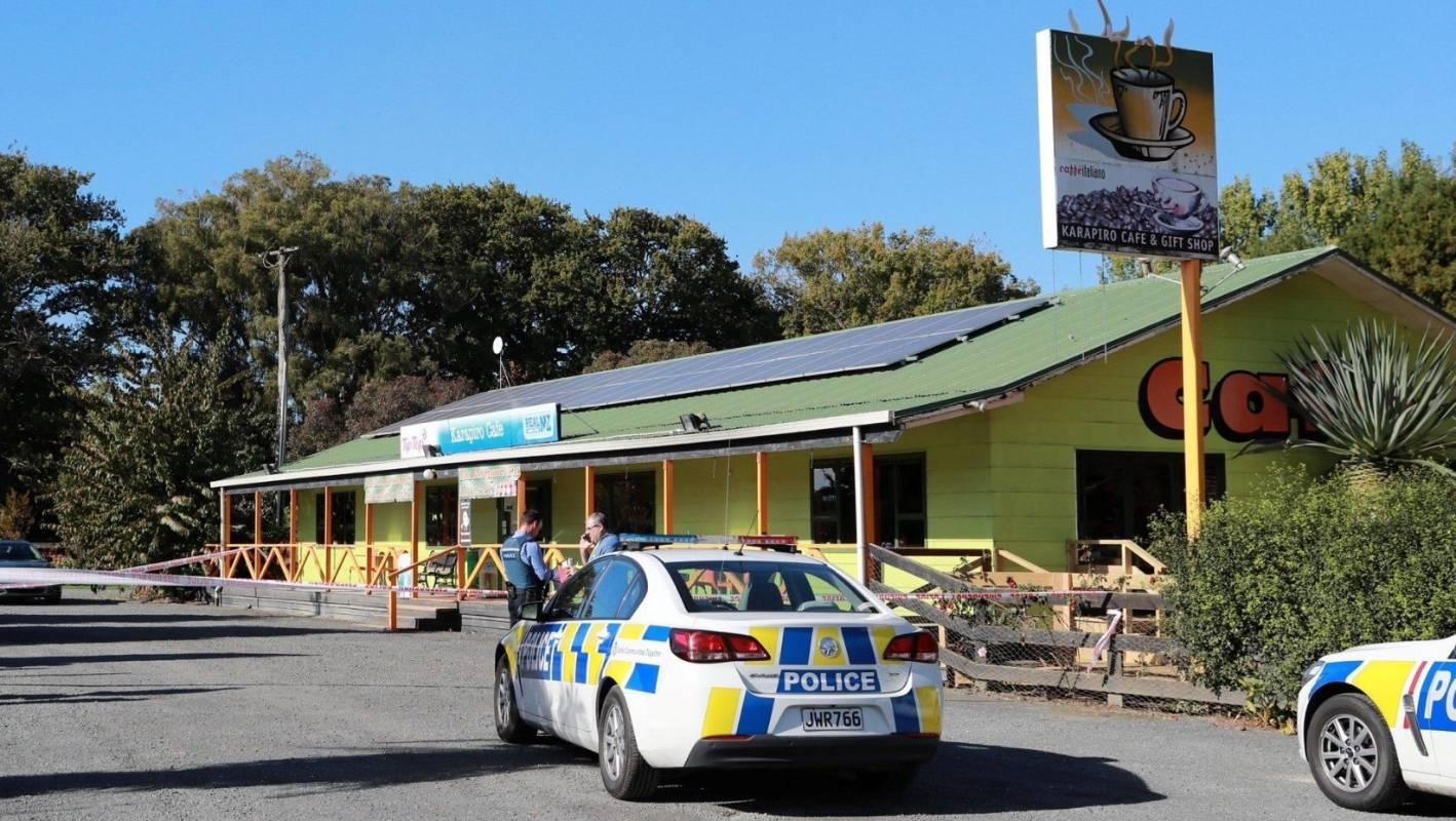 Police appeal for information after man shot at roadside cafe at Karapiro