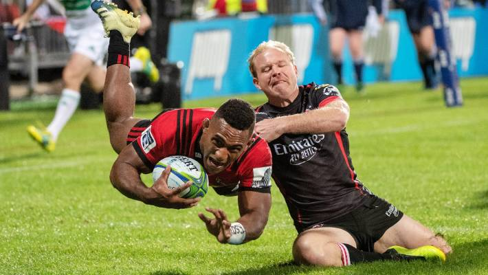 The Crusaders' wing, Sevu Reece, made two brilliant attempts against the Lions over the weekend.