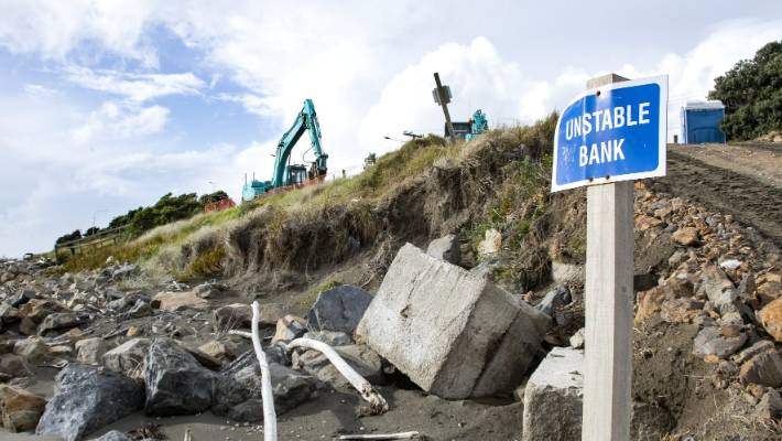 Kāpiti Coast District Council is spending $400,000 to shore up a temporary sea wall.