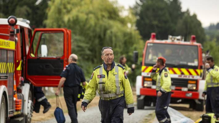 A member of the Stoke volunteer fire brigade in Nelson, Steve Webster was heavily involved in protecting properties from the fire front on the Redwood Hills in Tasman earlier in the year.
