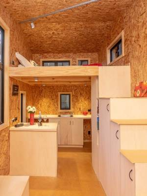 Each tiny house is fitted out with everything you need in a home, including a kitchen and bathroom.
