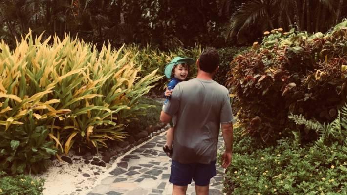 The lush grounds of Pacific Resort Rarotonga.