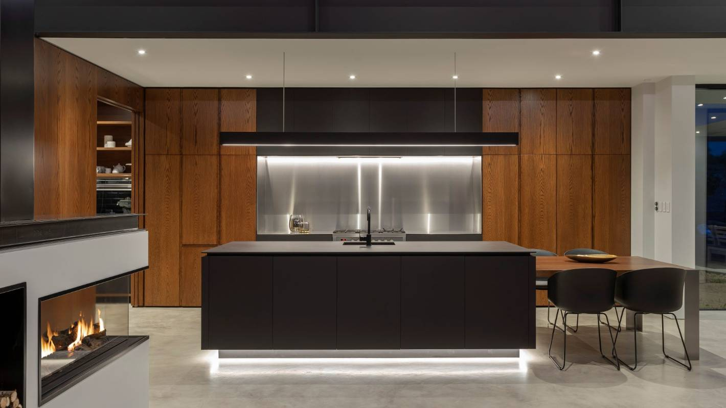 Tida award winning kitchens celebrate timber and stone stuff co nz