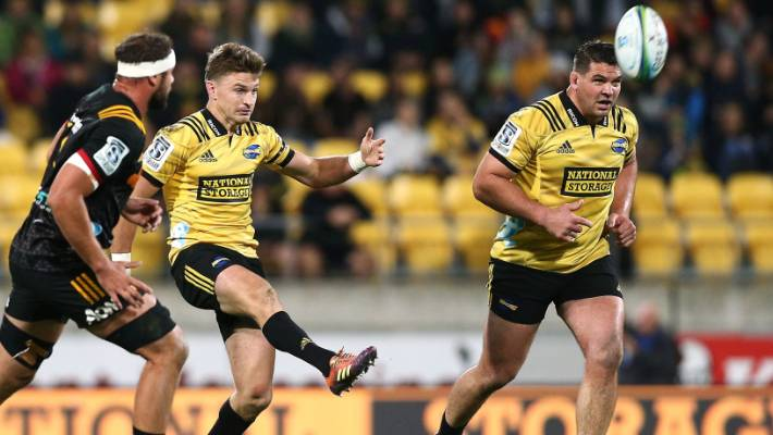 4e463272216 Beauden Barrett will captain the Hurricanes for the second time this season.