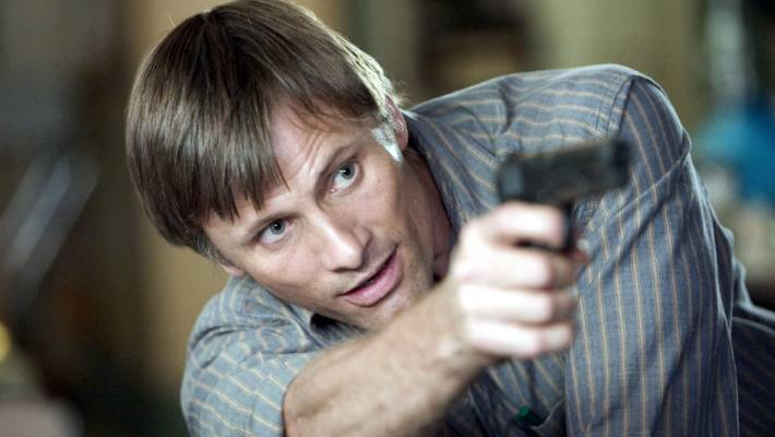 Viggo Mortensen is steeper in the History of Violence.
