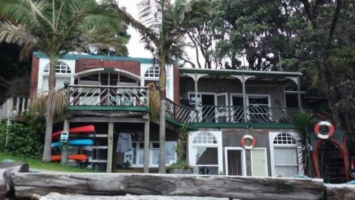 Maraehako Bay Retreat (pictured) owner Pihi Hei has been on trial at the Tauranga Distrcit Court on 26 charges of sexual offending, including rape, 15 charges of indecent assault and one charge of stupefying.