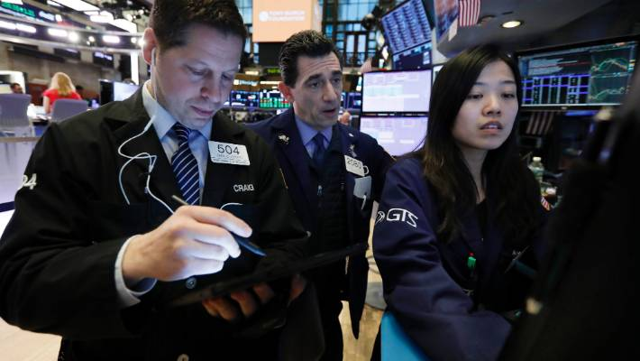 Wall Street initially tumbled following US President Donald Trump's shock tariff threat against China