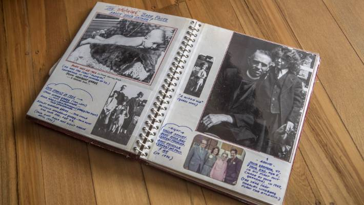 Leah's birth father delayed their first visit so he could finish preparing an album for her, packed with memorabilia from his own life.