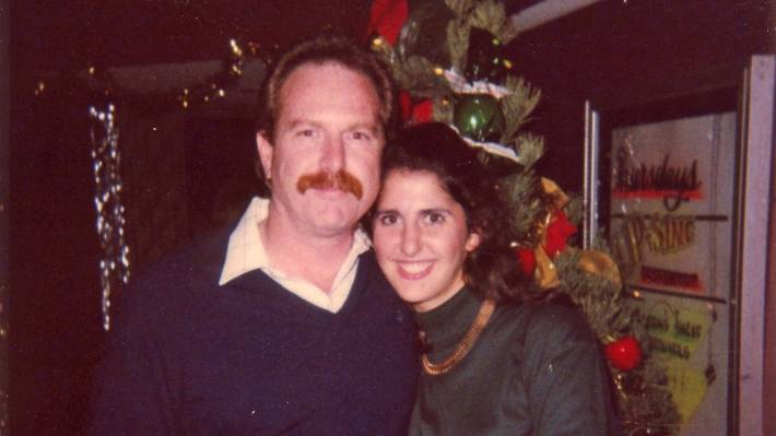Leah with her half-brother John, in 1989.