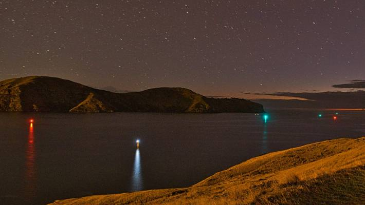 Lit Up Like A Christmas Tree.Lyttelton Harbour Residents Once Scenic View Now Lit Up