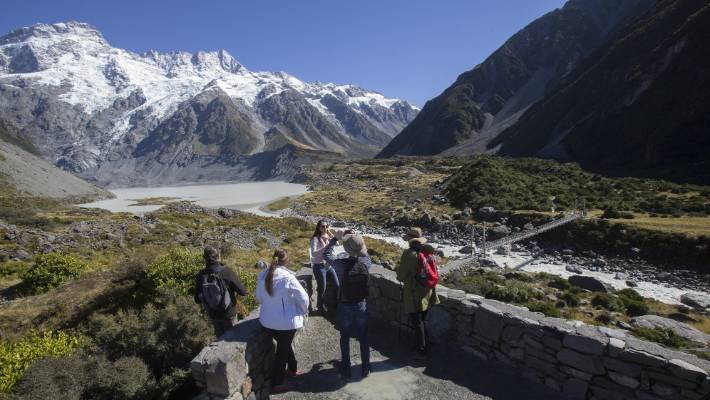 Annual visitor numbers to Aoraki/Mt Cook National Park have hit a million for the first time.