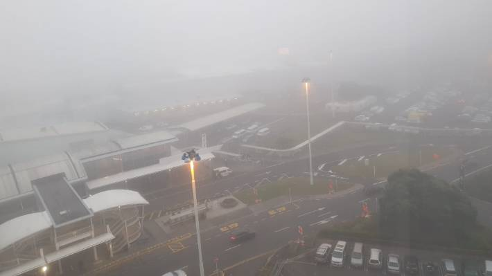 Fog at Auckland airport Saturday early.