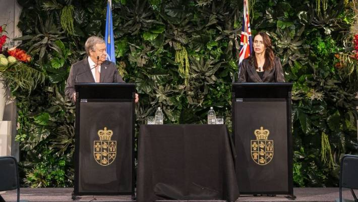 United Nations  leader arrives in New Zealand on climate change trip