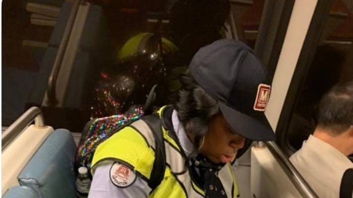 Anger over author's critical post of worker eating on train