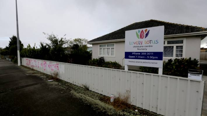 Residents unhappy about graffiti targeting Lovely Lotus Childcare Centre