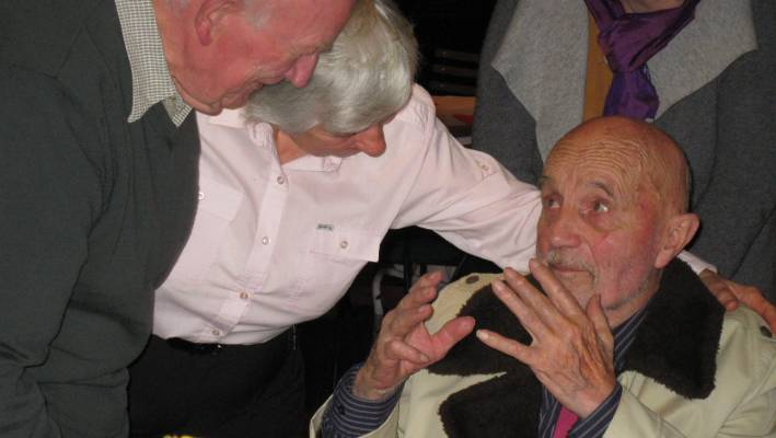 Horst Jonas, 83, terminally ill yet still communicating with relish with friends and family six weeks before his death on August 20, 2016.