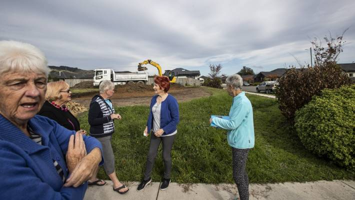 Digger work in subdivision, near Nelson, buries residents' hope for reserve