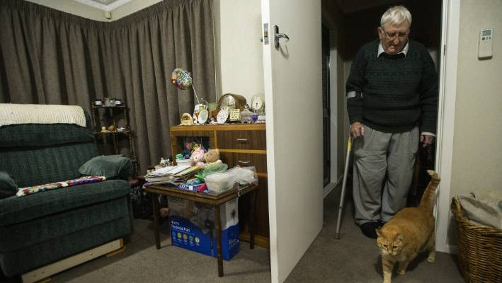 Ken Ratcliffe has lived alone since his wife, Marion, died in November 2017.
