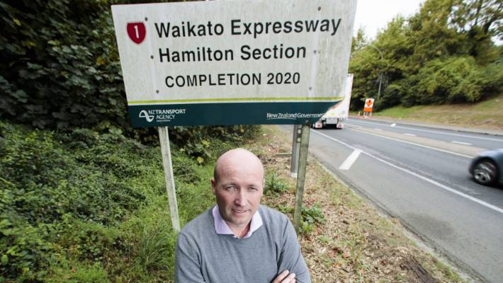 National's Hamilton East MP David Bennett puts the delayed completion date for the Waikato Expressway down to people heading offshore for job security.