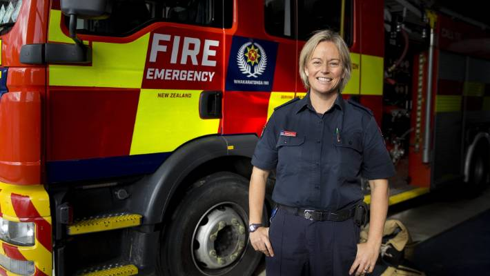 Palmerston North firefighter breaks glass ceiling as she takes on management role
