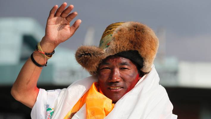 Nepali Sherpa guide climbs Mt. Everest for record 23rd time