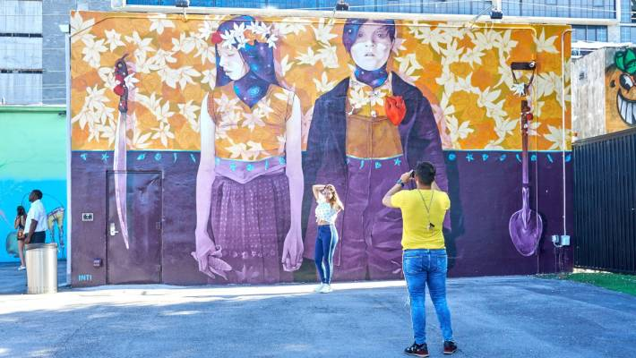 Wynwood is a neighbourhood in Miami, Florida known for its graffiti and street art.