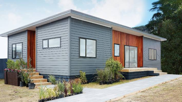 The houses range in price from $79,350 for a 60-square-metre two-bedroom kitset to $230,000 for the four-bedroom 106sqm homes including labour costs.