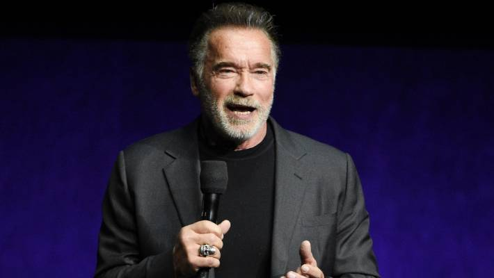 Arnold Schwarzenegger drop-kicked from behind in South Africa