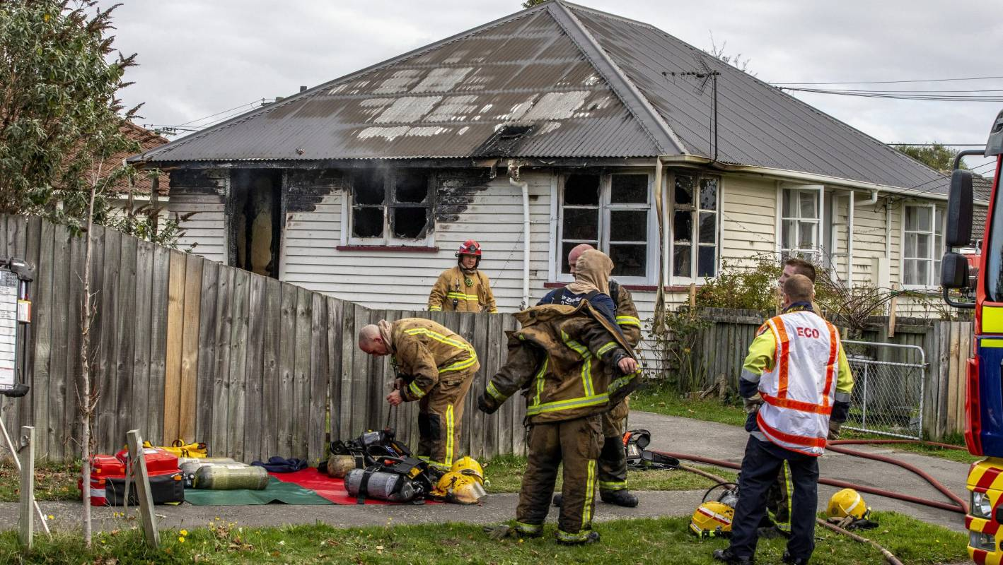 Fire crews bring Christchurch house fire under control