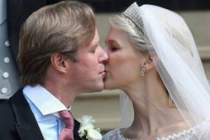 The newlyweds: Thomas Kingston and Lady Gabriella Windsor.
