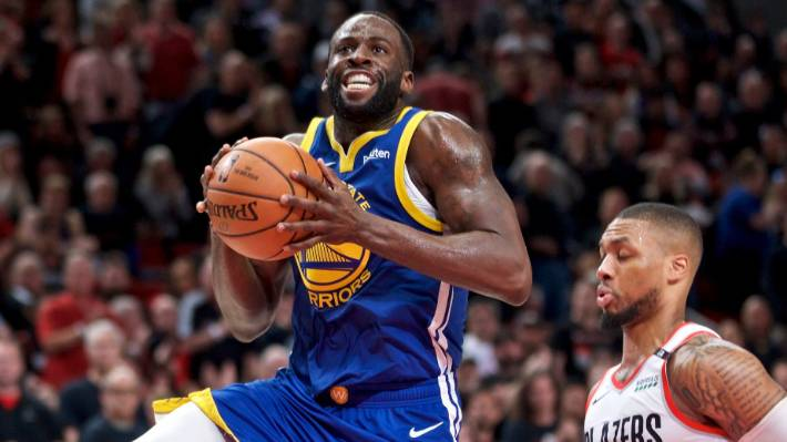 d4fc3ffa910 Golden State Warriors forward Draymond Green recorded a triple-double  against the Portland Trailblazers on