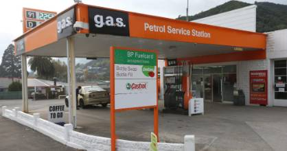 The g.a.s service station in Picton.