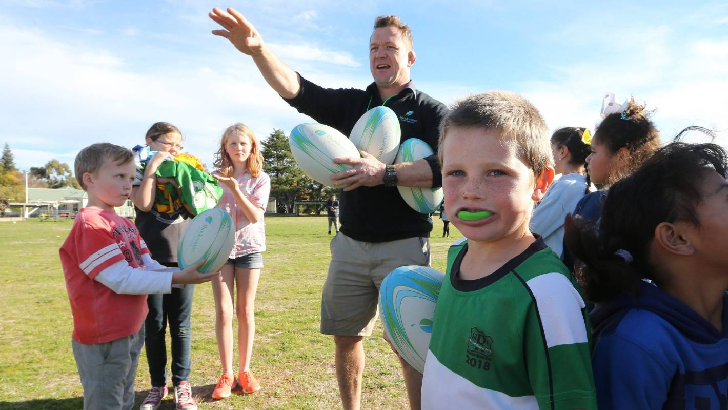 Country kids win once-in-a-lifetime coaching session with former All Black