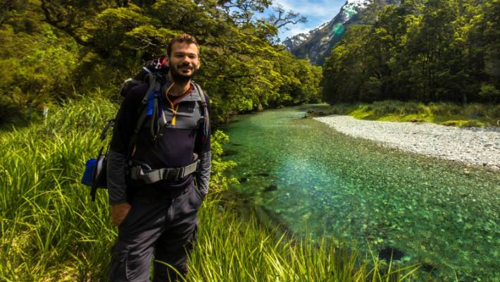 Brazilian masters student Rodolfo Lage has travelled New Zealand from top to bottom. He says the country offers many amazing free hikes.