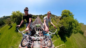 Move over trains, rail biking is here