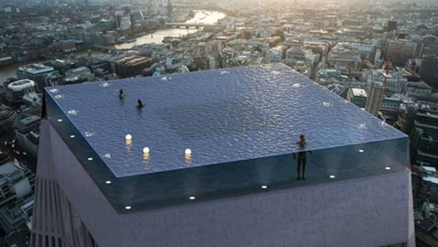 Incredible Rooftop Infinity Pool Planned In London Uk