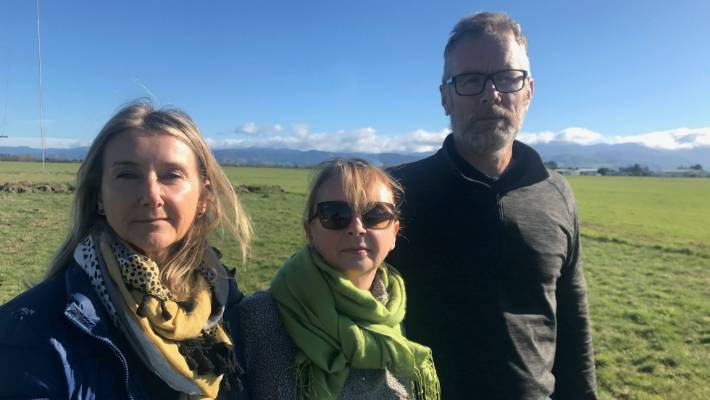 Darren Myers' wife Kim Shaw, centre, supported by her sister and brother-in-law Debbie and Duncan Styles,were at search headquarters almost every day since the search began on Sunday,  June 2.