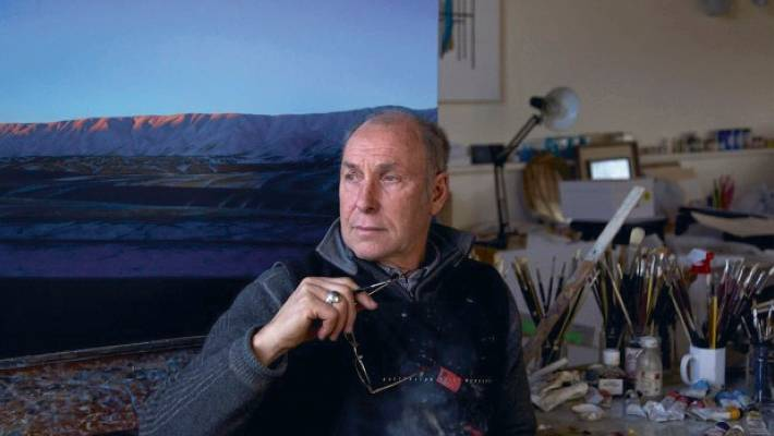 Artist Grahame Sydney at his Central Otago studio.