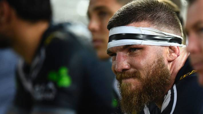 216aeda1ba95 Josh McGuire of the Cowboys looks on from the bench during the round 13 NRL  match