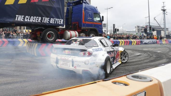 """""""Mad"""" Mike Whiddett is best known for drifting his Mazda rotary cars all around the world."""