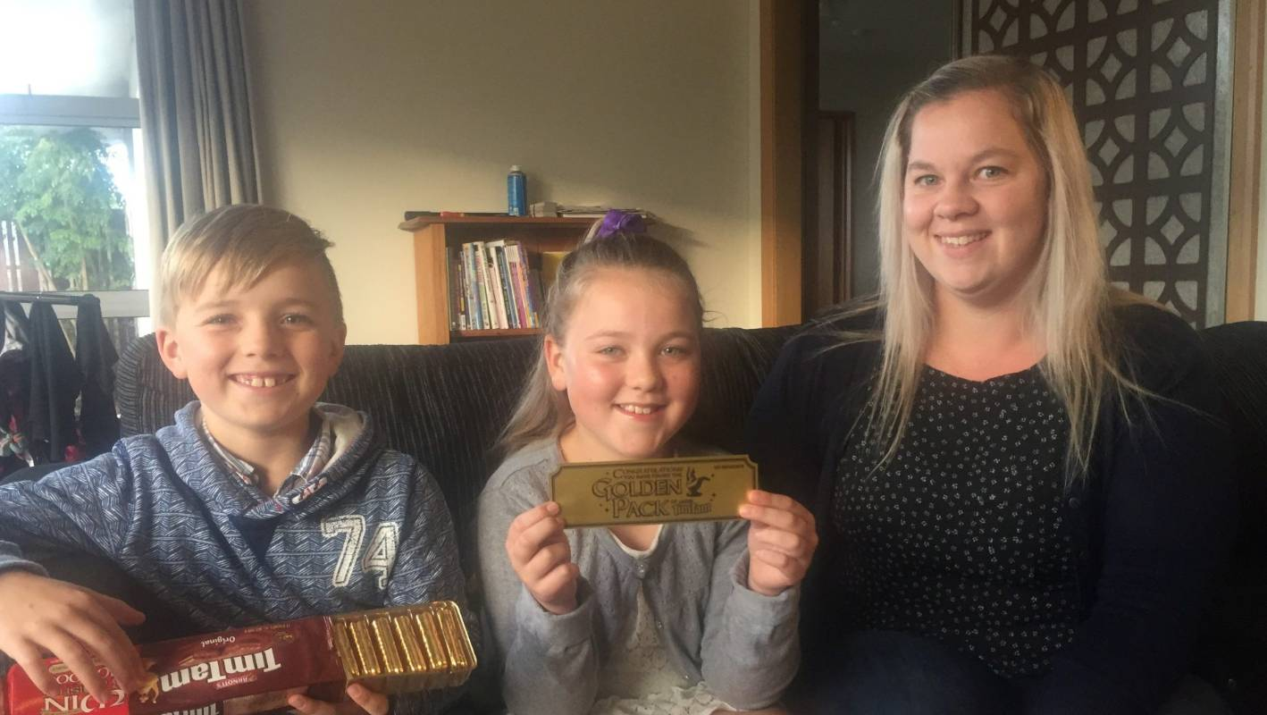 North Canterbury family discover $100,000 'golden ticket' in their packet of biscuits
