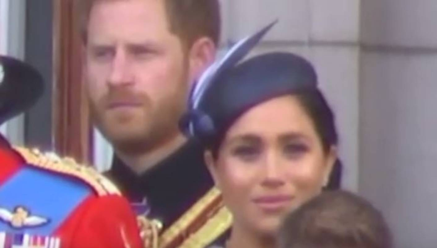 Prince Harry instructs Meghan on royal protocol at Trooping
