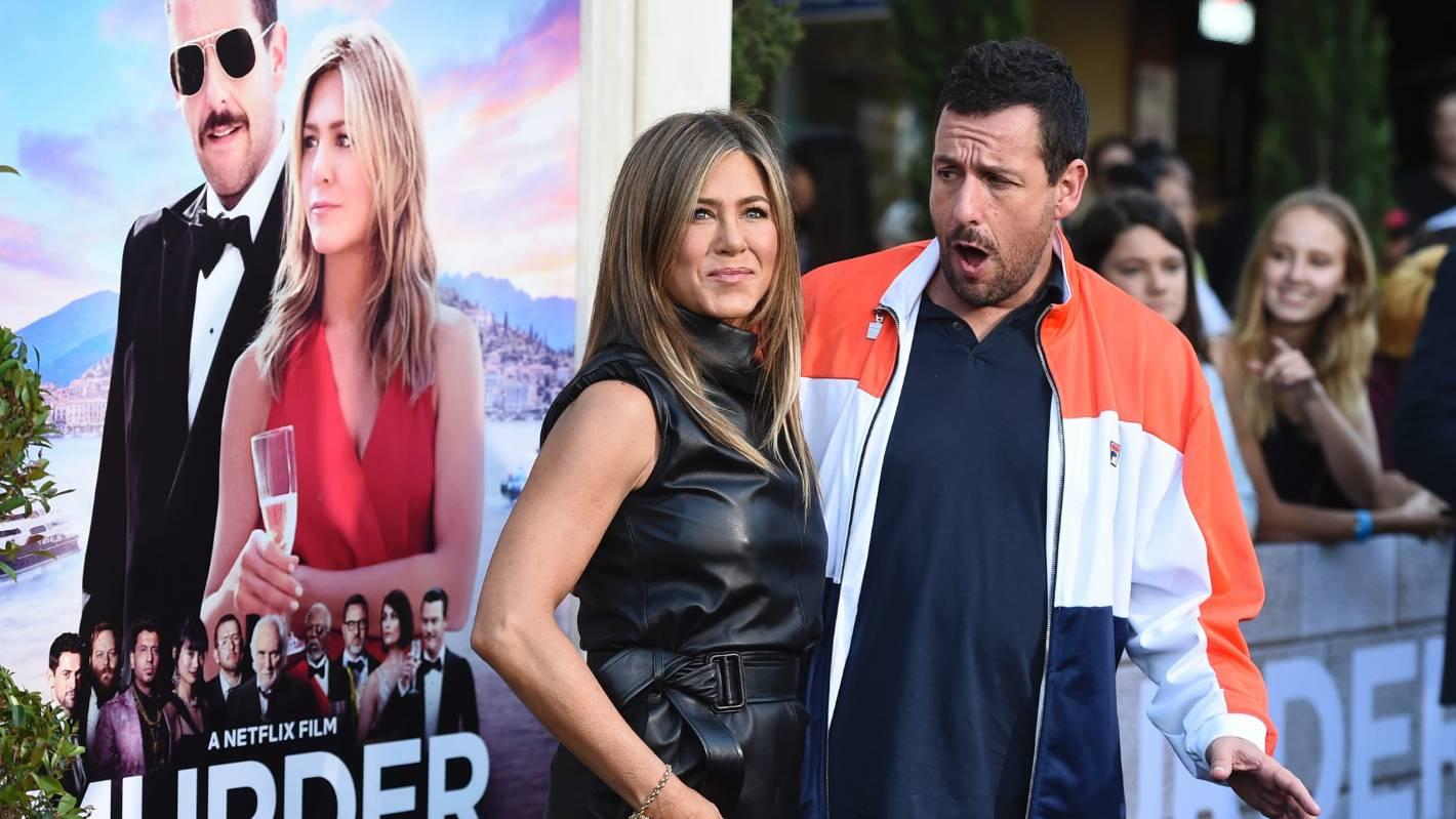Adam Sandler and Jennifer Aniston bumble their way through