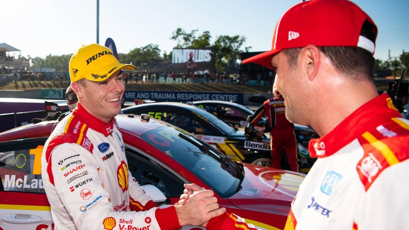 Kiwi driver Scott McLaughlin wins Darwin Supercars from pole